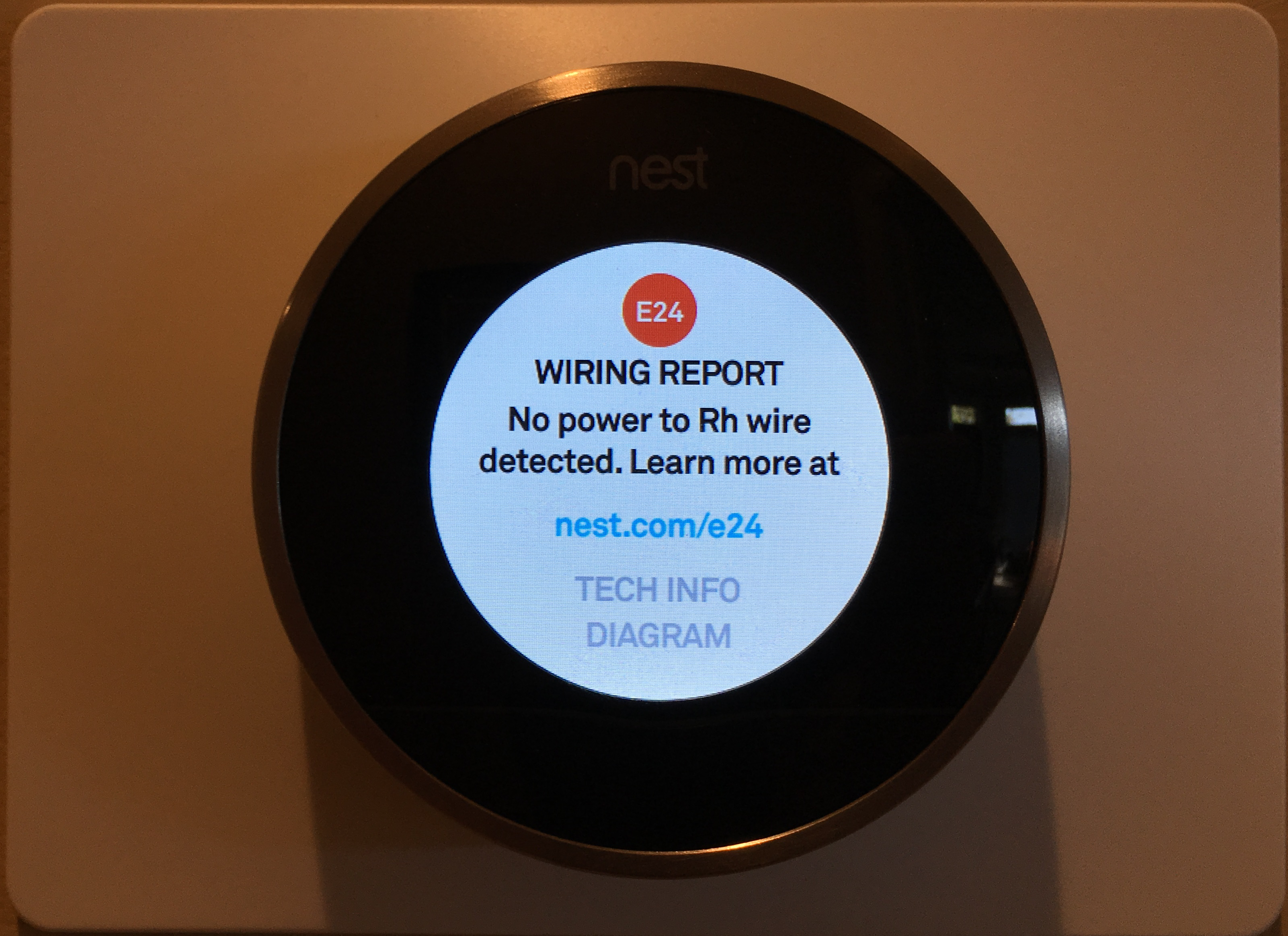 Nest Thermostat Wiring Error Message Wire Center Heat Pump Guide How To Repair No Power Rh Detected Due A Hapscout Com
